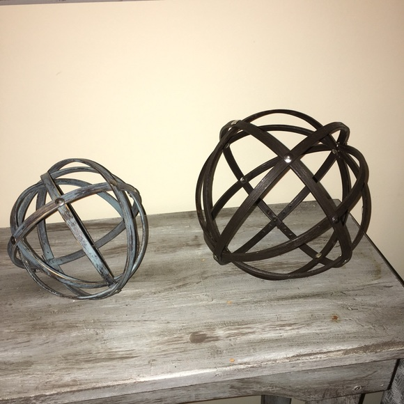 Other - Handmade Decorative Wooden Orbs